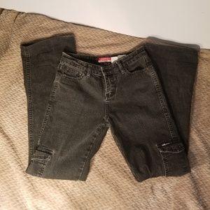 UNIONBAY Stretch Black Jeans Cargo w/ Side Pockets
